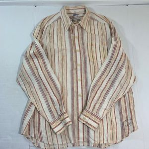 Tommy Bahama LS Linen Button Front Shirt XL